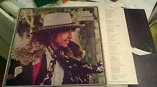 LP BOB DYLAN DESIRE ITALY 1975 + INNER SLEEVE E SHEET TESTI VG/VG+/EX
