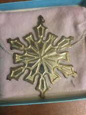 MMA 1977 Sterling Silver over Copper Snowflake Ornament Christmas By Mayer #A