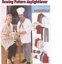 Women Men Chef Jacket Hat Apron Pants Sewing Pattern 2233 NEW Size XXLarge  i