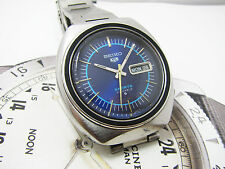 VINTAGE SEIKO 5 SPORTS AUTOMATIC 6319 BLUE RARE MINT.