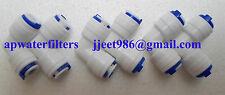 "1/4""Pipe/Tube Elbow Connectors Both Side Pushfit For RO/UV/Water Filter Purifier"
