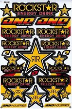 1 sheet New stickers/decals Rockstar Energy Motocross ATV Racing Freeshipping 04