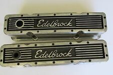 Edelbrock 4249 Elite Series 350 Small Block Chevy 12 Bolt Aluminum Valve Cover