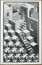 M C Escher Kringloop Lithograph Printed in Holland by G W Breughel in late 1960s