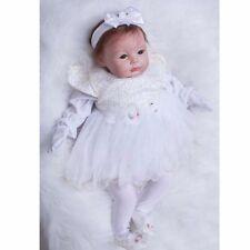 "22"" Baby Doll Reborn Lifelike Vinyl Newborn Girl Handmade Silicone Realistic LOT"