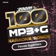 Zoom Karaoke MP3+G Disc - 100 Songs - Female Superstars (New)