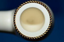 bent APPLE Gold Gilded handmade MEERSCHAUM pipe by STRAMBACH Austria (bauer) NEW
