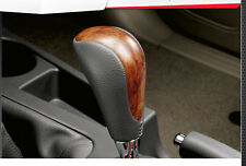 LEATHER WOODEN AUTOMATIC GEAR SHIFT KNOB FOR TOYOTA FORTUNER 2011-2012 GENUINE
