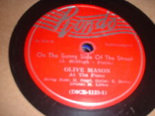 78RPM Rondo 200 Olive Mason, On the Sunny Side of the Street / Mason's Boogie V