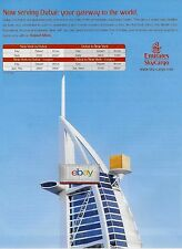 EMIRATES AIRLINES SKY CARGO AIRFREIGHT DUBAI-NEW YORK FREIGHTER SCHEDULE AD
