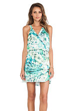 "PARKER ""KITA"" PRINTED SILK DRESS IN MEADOW (GREEN) SIZE XS $253"