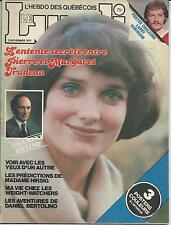 Le Lundi November 5 1977 Margaret Justin Trudeau Mother French Magazine