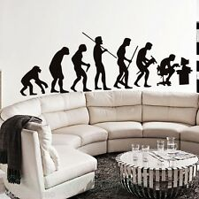 FUNNY HUMAN EVOLUTION BLACK LARGE SET STICKER ART WALL DIY HOME ROOM DECOR DECAL
