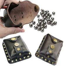 Slingshot Steel Balls Bearing Leather Waist Bag Pouch Hunting Catapults Games