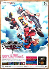 Kingdom Hearts 3D Dream Drop Distance RARE 3DS 51.5cm x 73 Japanese Promo Poster