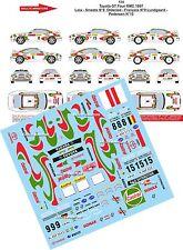 DÉCALS 1/43 réf 114 Toyota GT Four MONTE CARLO 1997