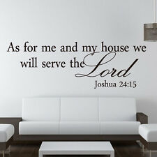 As for me and my house we will serve English Stickers Wall Art Sticker Hot ZXF