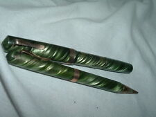 Circa 1930 Eversharp Bantam Green Pearl Pen and Pencil Set Thin and Short