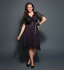 NEW SOLDOUT KIYONNA RETRO GLAM LACE PLUS SIZE BLACK DRESS 0x