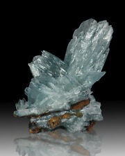 "3.1"" Dramatic Blizzard Blue BARITE Sharp Terminated Crystals Morocco for sale"