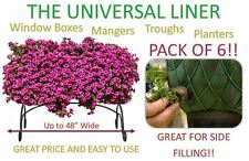 """6 PACK - Planter, Trough, Manger & Window Box Liner - Liners - Up to 48"""" Wide"""