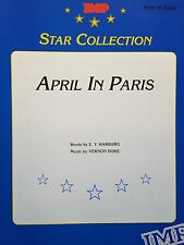 April In Paris (Piano/Vocal/Chords Sheet Music) - OUT OF PRINT, MINT CONDITION!