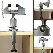 """Universal 360° Tabletop Clamp Vice Vise 3"""" Swivel Bench Tilts Rotates Adjustable"""