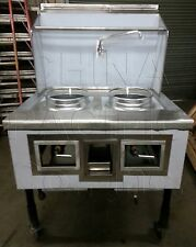 2 Hole Burner Chinese Wok Range NSF CSA Natural Gas Commercial Restaurant NEW