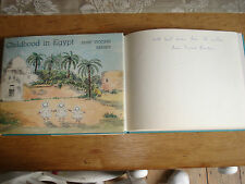 CHILDHOOD IN EGYPT,BY ANNE VICCARS BARBER,SIGNED COPY.FIRST EDITION H/B 1968