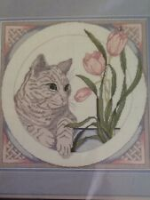 Something Special Candamar Designs Counted Cross Stitch Cat And Tulips #50377