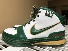 Nike LeBron 6 SVSM Sample Promo PE Size 8 Green Gold