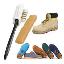 Rubber Eraser + 3-Sides Cleaning Brush Set for Suede Nubuck Shoes Boot Cleaner