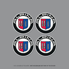 SKU2135 - 4 x BMW Alpina Wheel Centre Stickers Badges Car - 56mm