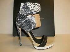 Mia Limited Edition Size 7 M ROCCO Gray Leather Heels Sandals New Womens Shoes