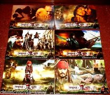 PIRATES OF THE CARIBBEAN : ON THE STRANGER TIDES (2011)ORIGINAL LOBBY CARDS