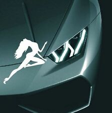 Reflective Car Stickers Beauty Sexy pole dancing girl white Waterproof Decal