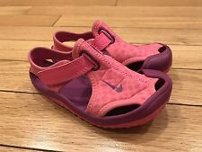 Nike Sunray Protect Toddler Girls Sandals Size 7c Pink/Purple Water Shoes