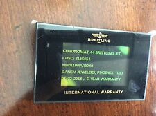 Breitling Digital Electronic Warranty Card