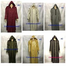 Moroccan Hooded Thobe , Jubba Robe Dishdash Arab Dress