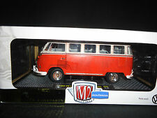 M2 Volkswagen Bus Deluxe 1960 Red and White Rusty Version 1/24 Limited Edition
