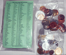 100 Different Coins From 100 Different Countries Uncirculated Set With List