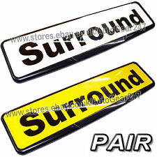 2 Car Number License Registration Plate Black Trim Surround Frame Holder. Pair