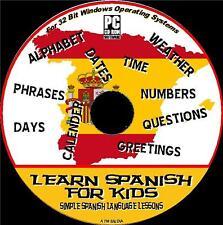 Lo spagnolo per bambini linguaggio BASIC lezioni scolastiche PC CD PROGRAM NUOVO