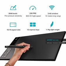 "Luxury Wireless Huion Graphic Drawing Tablet 13.8 x 8.6"" WH1409 Giano 2016Newest"