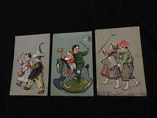 Antique Postcard Lot Children Toys Musical Instruments Drum PFB (px496)