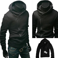 Men's Slim Fit Zip Up Hoodie Coats Jacket Sweater Hooded Sweatshirt Plain Tops