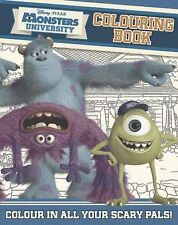 DISNEY PIXAR MONSTERS UNIVERSITY LIBRO PARA COLOREAR __ MANCHADO EN TIENDA __