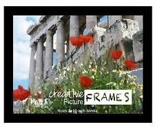 CreativePF 8x10 inch Black Picture Frame Includes Two Way Easel with Wall Hanger