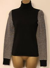 Karen Millen Roll Neck Texture Wool Knit Long Sleeve Jumper Sweater Top 12 40