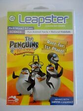 NEW LEAPSTER 1 & 2 game cartridge PENGUINS OF MADAGASCAR science animal fax NIP
